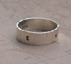 Compass Ring -- sterling silver ring by Kathryn Riechert