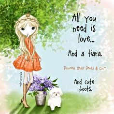 Awwww.  U will always be my princess... and you love cute boots!