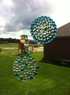 SUN-CATCHER: DIY Sun-catcher ~ for a more permanent fix, use a tube of clear silicone in place of Elmer's Glue.