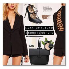 """Lace-up Blazer & Shorts Co-ord"" by svijetlana ❤ liked on Polyvore featuring NARS Cosmetics and MAC Cosmetics"