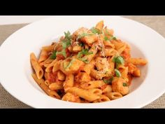 Penne Vodka with Chicken Recipe - Laura in the Kitchen - Internet Cooking Show Starring Laura Vitale