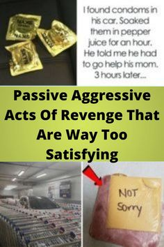 Passive #Aggressive Acts Of #Revenge That Are Way Too #Satisfying