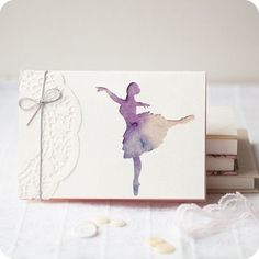Ballerina papercut greeting card inches by MimimiCards, cards Watercolor Postcard, Watercolor Cards, Dance Crafts, Bday Cards, Wedding Card Templates, Wedding Cards, Paper Cards, Cool Cards, Kids Cards