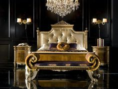 This ultra-glamorous bedroom features furnishings from Michelangelo Designs…