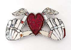 Cleo Mussi mosaic winged heart
