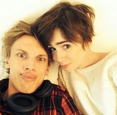 Jamily is back!!!!! <3 lily Collins Jamie Campbell bower