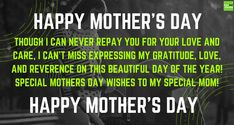 This wonderful Mother's Day is a very special day in everyone's life. Take a look at our stuff like this for Happy Mothers Day Wishes Quotes Best Wishes Images, Mothers Day Wishes Images, Happy Mothers Day Wishes, Happy Mother Day Quotes, Express My Gratitude, Wish Quotes, Beautiful Day, Quote Of The Day, Love You