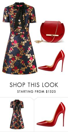 """Untitled #304"" by jovanaaxx on Polyvore featuring Gucci, Christian Louboutin and Angela Valentine Handbags"