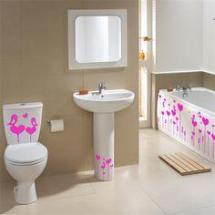 58 mejores imágenes de pegatinas decorativas en el baño. | Quartos ...