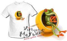 Camiseta Rana 3D Frog Graciosa Cuatro Guapos T-Shirt Xxl Tshirt Ranas Frogs - Bekiro