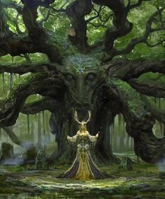 Druid of the forest Fantasy Forest, High Fantasy, Fantasy Rpg, Fantasy Artwork, Fantasy World, Celtic Fantasy Art, Fantasy Magician, Space Fantasy, Fantasy Wesen