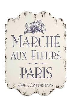 Fleur Marche Wall Decor #paris