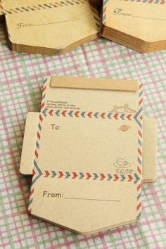 Super leuk zijn deze envelopjes om zelf te vouwen. Van ECO bruin kraft papier. 50 stuks 5x7.5 cm