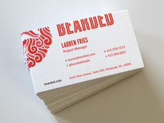 Business Card / Design / Red-White
