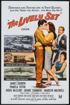 The Lively Set. One sheet poster. Starring Pamela Tiffin.