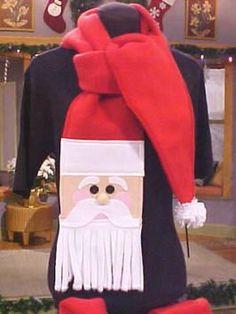 How to Make a Scarf   How to Make a Fleece Santa Scarf :   Christmas Ideas