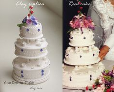 CUSTOM Wedding Cake replica ornament 1st by YourDreamCake on Etsy