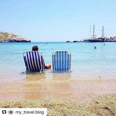 Chillin' and beachin' #reiseliv #reisetips #reiseblogger #reiseråd  #Repost @my_travel.blog (@get_repost)  Chillin' on kolymbia beach