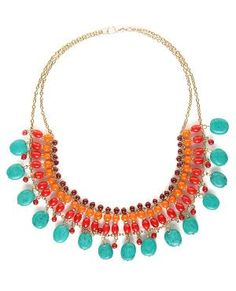 Gorgeous Beaded Necklace - Collar Necklace - $21.00