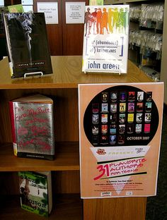 31 Flavorites for Young Adults | Young adult authors on display at the Lester Public Library.