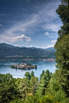 San Giulio Island, Lake Orta, province of Novara, region of  Piemonte, Italy