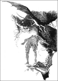 Joseph Clement Coll - The Lost World by Arthur Conan Doyle  (serialized in Associated Sunday Magazine March 24-July 12, 1912)