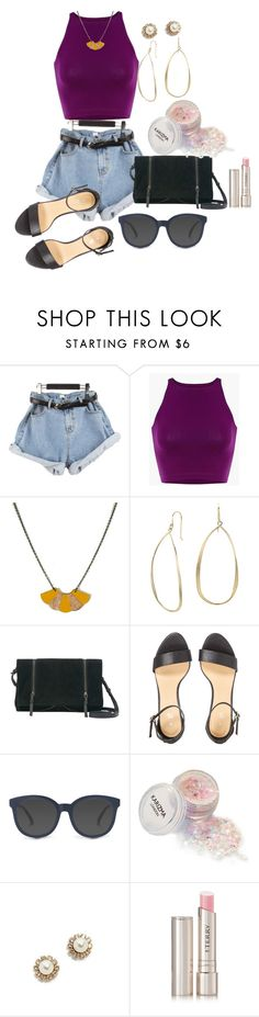 """""""Baggy Denim Shorts"""" by sillycatgrl on Polyvore featuring Atelier Maï Martin, Blue Nile, Mint Velvet, Marc Jacobs and By Terry"""