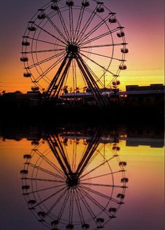 Silhouette Photography, Art Photography, Farris Wheel, Images Murales, Michael Moore, Carnival Rides, Six Flags, Beautiful Sunset, Ciel