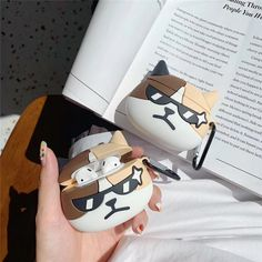 Cool Glass Cat Soft Silicone Earphone Case For Airpods 2 1 Gemini Wallpaper, Shipping Packaging, Earphone Case, Airpod Case, Laptop Case, In Ear Headphones, Smartphone, Gadgets, Iphone Cases