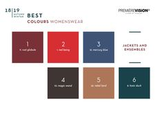The results of the Best survey concerning Colours for Womens, Mens, Casual and Sportswear. Color Trends 2018, 2018 Color, Business Fashion, Business Women, Look 2018, Aw 2018, Deep Autumn, Color Pairing, Pantone Color