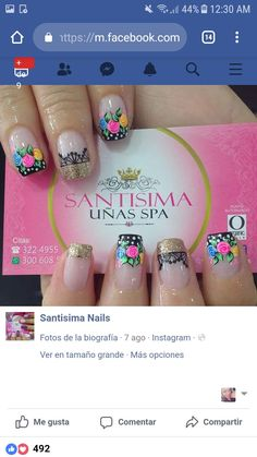 decoracion de uñas Cute Pedicure Designs, Nail Designs, Cute Pedicures, Cute Nails, Perfect Nails, Manicure And Pedicure, Hair Beauty, Nail Art, Nice Nails