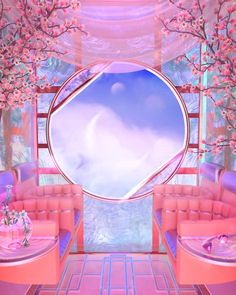 Aesthetic Space, Pink Aesthetic, Neon Room, Fantasy Landscape, Retro Futurism, Dream Rooms, Belle Photo, Day Trip, Wall Collage