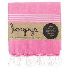 Bubblegum Pink Premium Turkish Towel.  Made by Loopys
