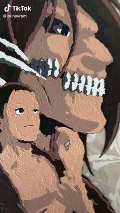 Attack on Titan Eren Jaeger Glasspainting Art Artist: louneyram from TikTok