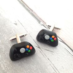 Games Controller Polymer Clay Cufflinks. Fab for Gamers and lovers of all things geeky!