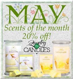 May's scents for the month