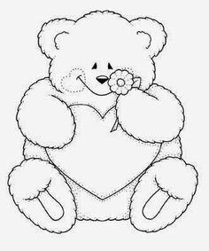 Resultado De Imagem Para Desenho Vazado Pequeno Urso