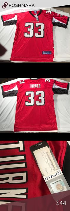afbcf6e16 Reebok - Atlanta Falcons  33 Turner NFL Jersey New with Tags