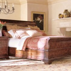 Safavieh Home Furnishings - King Sleigh Bed Cavalier, Call for pricing (http://www.safaviehhome.com/casual-beds-king-sleigh-bed-cavalier/6200-12-93)