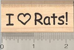 I Heart Rats Rubber Stamp Pet Rat Love >>> Check out the image by visiting the link.