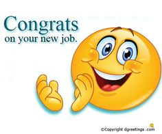 Send this cheerful greeting to congratulate someone on their new job!