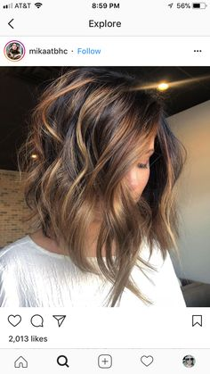 Love everything about this cut/color. Love everything about this cut/color. The post Love everything about this cut/color. Hair Color And Cut, Haircut And Color, Medium Hair Styles, Short Hair Styles, Hair Medium, Medium Long, Hair Affair, Brunette Hair, Brunette Color
