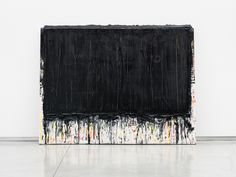 ANDREW DADSON, BLACK LEAN PAINTING 2013: large scale.