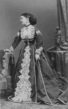 Circa 1870 Lady Susan Vane-Tempest (née Pelham-Clinton) by Disderi.