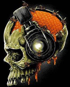 Dark Fantasy Art, Dark Art, Badass Skulls, Totenkopf Tattoos, Skeleton Art, Skeleton Bones, Skull Pictures, Drawing Clipart, Skull Artwork