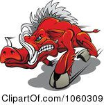 Royalty Free Vector Clip Art Illustration Of A Razorback Boar Logo 1 by Seamartini Graphics