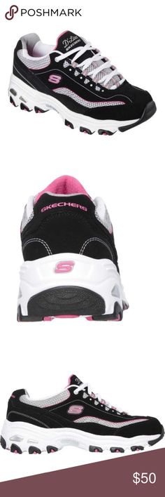 Sketchers D'lites Sketchers D'lite life saver.   Size 9.5   Worn only one time. Little wear inside of shoe seen in picture. Skechers Shoes Athletic Shoes