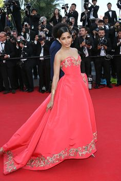 Freida Pinto attends The Cannes Film Festival in May