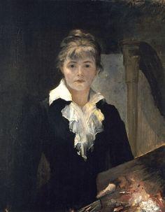 Autoportrait à la palette, 1880 Marie Bashkirtseff (née Maria Konstantinovna Bashkirtseva à Gavrontsi près de Poltava, en Ukraine (Empire russe) le 11 novembre 1858 et morte à Paris le 31 octobre 1884, est une diariste, peintre et sculpteur d'origine ukrainienne.
