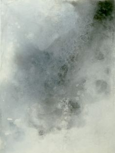 Encaustic and mixed media painting on panel Deluge II by Suzanne Hazlett.